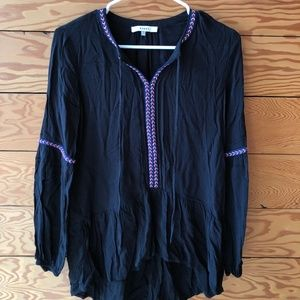 Ro & De Bohemian Long Sleeve Blouse XS